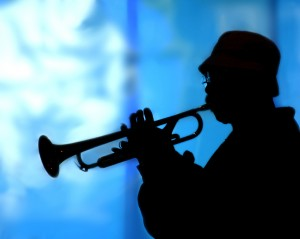 Trumpet Solo Blue