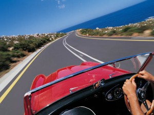 Moving Forward in Car